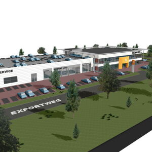 architect garage showroom bedrijfspand Pijnacker Brand I BBA Architecten